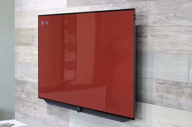 Wall mounted HDTV