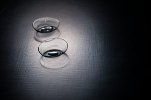 a pair of contact lenses