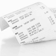 Cash register receipt