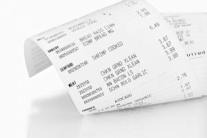 Cash register receipt